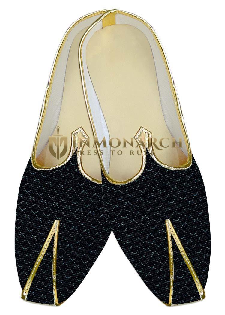 Juti ForMen Black Wedding Shoes Thread Checks Wedding ShoeFor Groom
