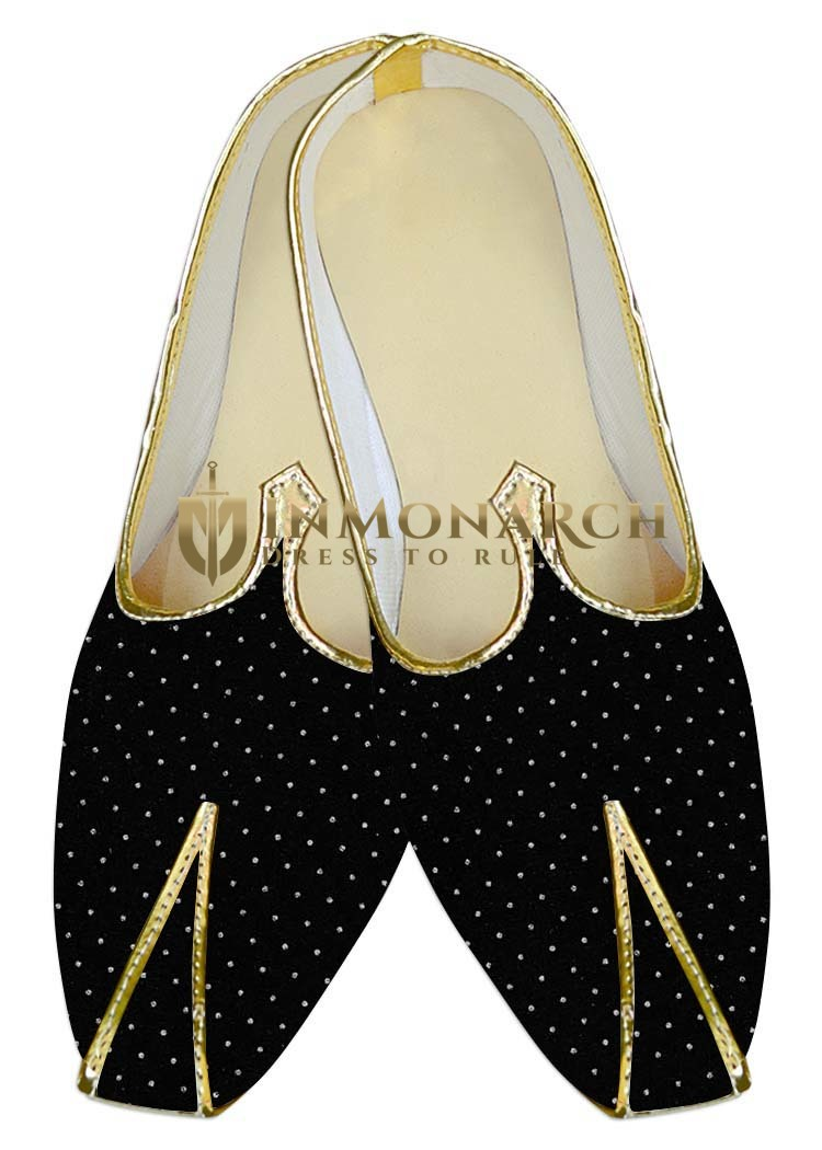 Mens Wedding Shoe For Groom Black Wedding Shoes White Dots Print