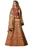 Indian Wedding Ivory Silk Lehenga Choli