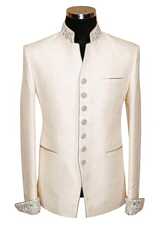 Mens Slim fit Casual Ivory Polyester Blazer sport jacket coat Stylish Look