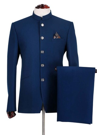 Mens Slim fit Casual Dark Navy Polyester Blazer sport jacket coat For Groomsmen