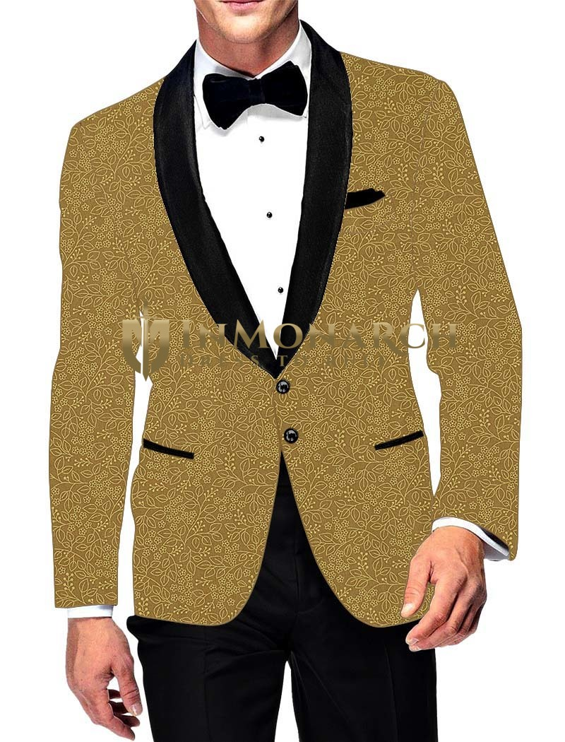 Mens Slim fit Casual Tan Color Cotton Blazer sport jacket coat Black Shawl Lapel