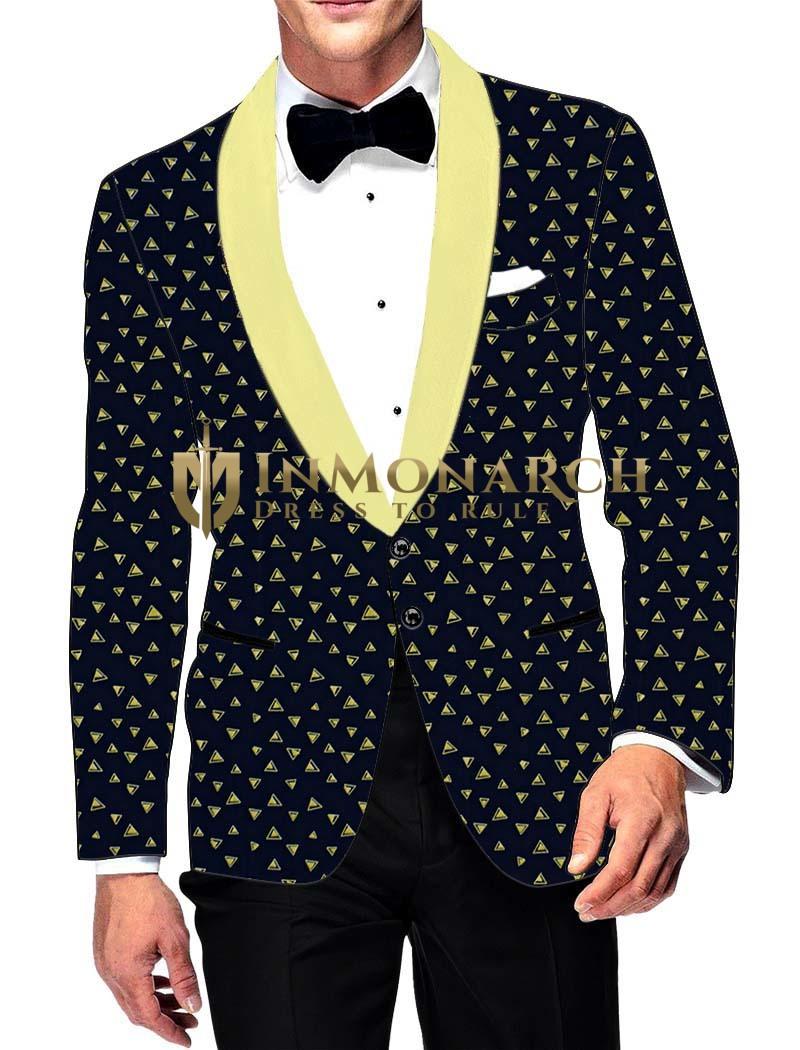 Mens Slim fit Casual Dark Navy Cotton Blazer sport jacket coat Two Button