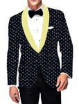 Mens Slim fit Casual Dark Navy Cotton Blazer sport jacket coat Two Button
