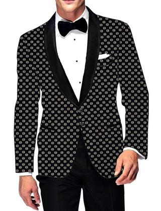 Mens Slim fit Casual Black Cotton Blazer sport jacket coat Partywear Two Button