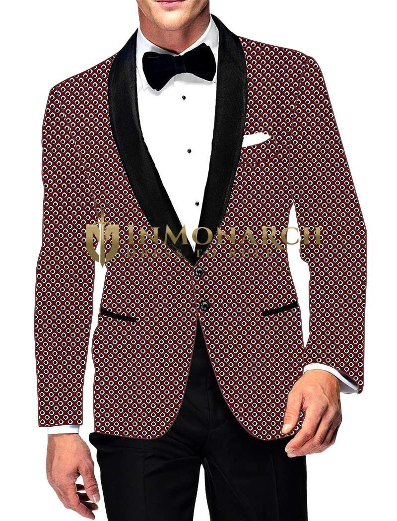 Mens Slim fit Casual Burgundy Cotton Blazer sport jacket coat Shawl Lapel