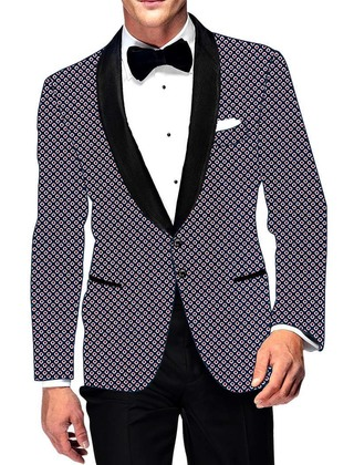 Mens Slim fit Casual Dark Navy Cotton Blazer sport jacket coat White Red Print