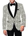 Mens Slim fit Casual Cream Cotton Blazer sport jacket coat Paisley Designs