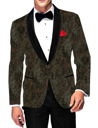 Mens Slim fit Casual Olive Drab Cotton Blazer sport jacket coat Casual