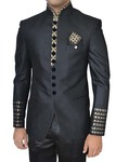 Mens Black 4 Pc Wedding Tuxedo Suit