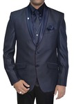 Mens Purple Gray Polyester 6 pc Tuxedo Suit Two Button