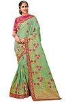 Green Art Silk Partywear Saree