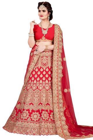 Crimson Silk Designer Lehenga Choli