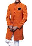 Mens Sherwani Orange Sherwani for Men Wedding Indowestern Sherwani