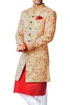 Sherwani for Men Wedding Sherwani Peach Indowestern Wedding