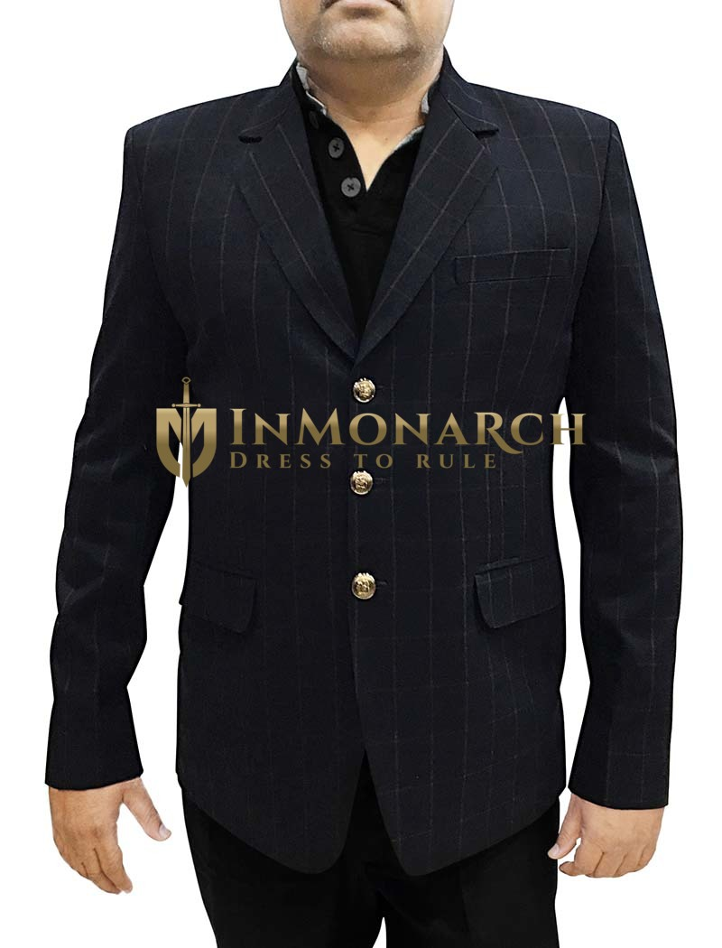 Mens Slim fit Casual Dark Navy Partywear Blazer sport jacket coat Notch Lapel