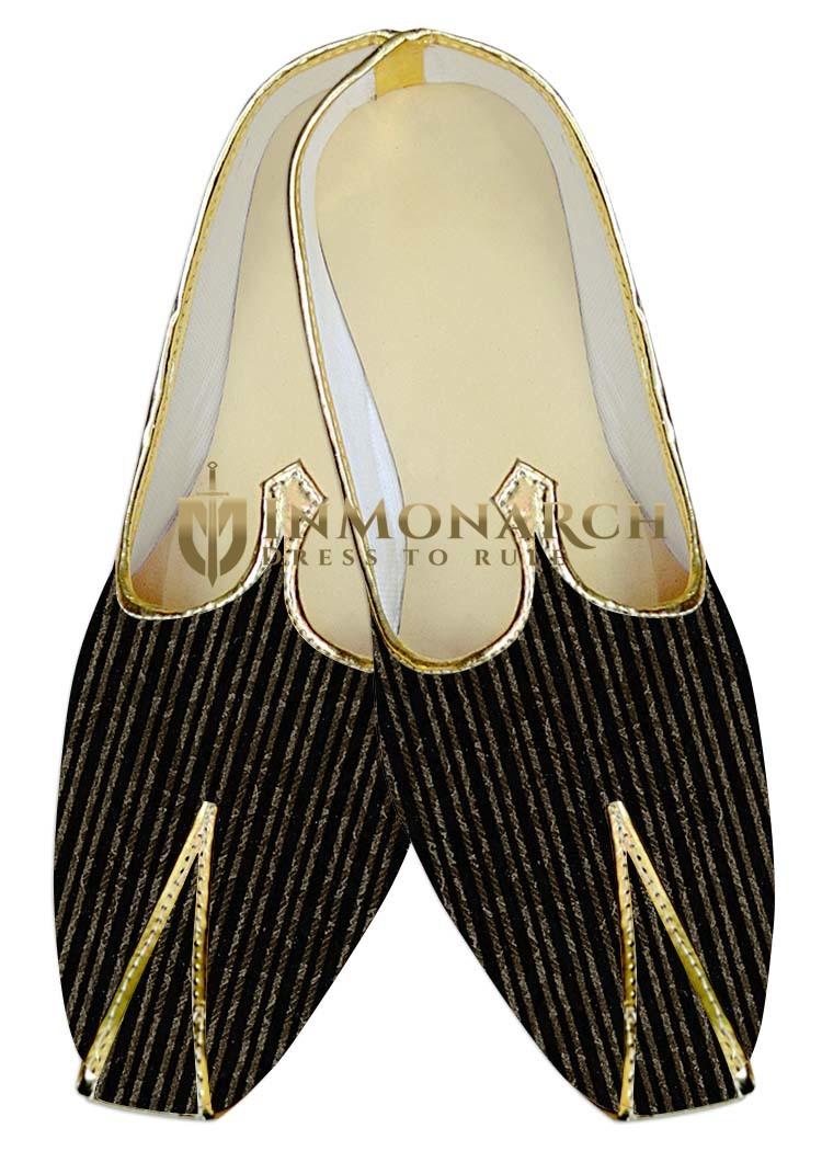 Mens Wedding ShoeFor Groom Black Wedding Shoes Printed Lining
