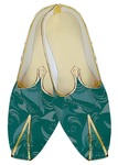Indian Wedding Shoes For Men Teal Printed Wedding Shoes