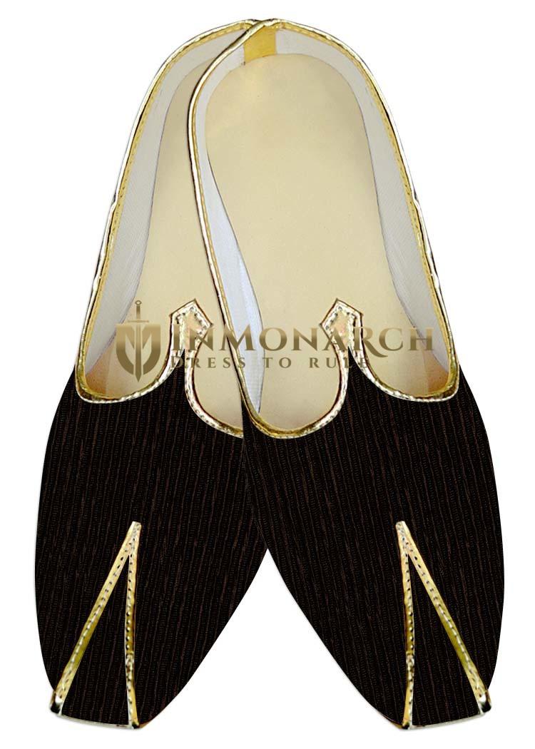 Mens Juti Brown Wedding Shoes Wales Design Sherwani Shoes