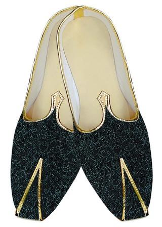 Juti ForMen Black Wedding Shoes Cyan Design Wedding ShoeFor Groom