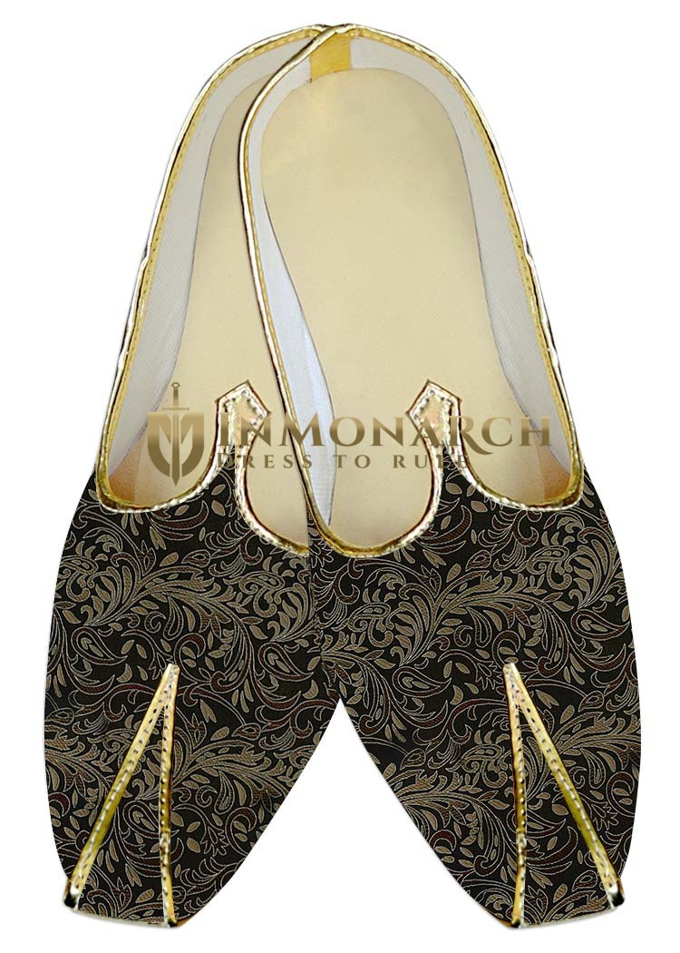 Mens Sherwani Shoes Black Wedding Shoes Brown Designs Juti For Men