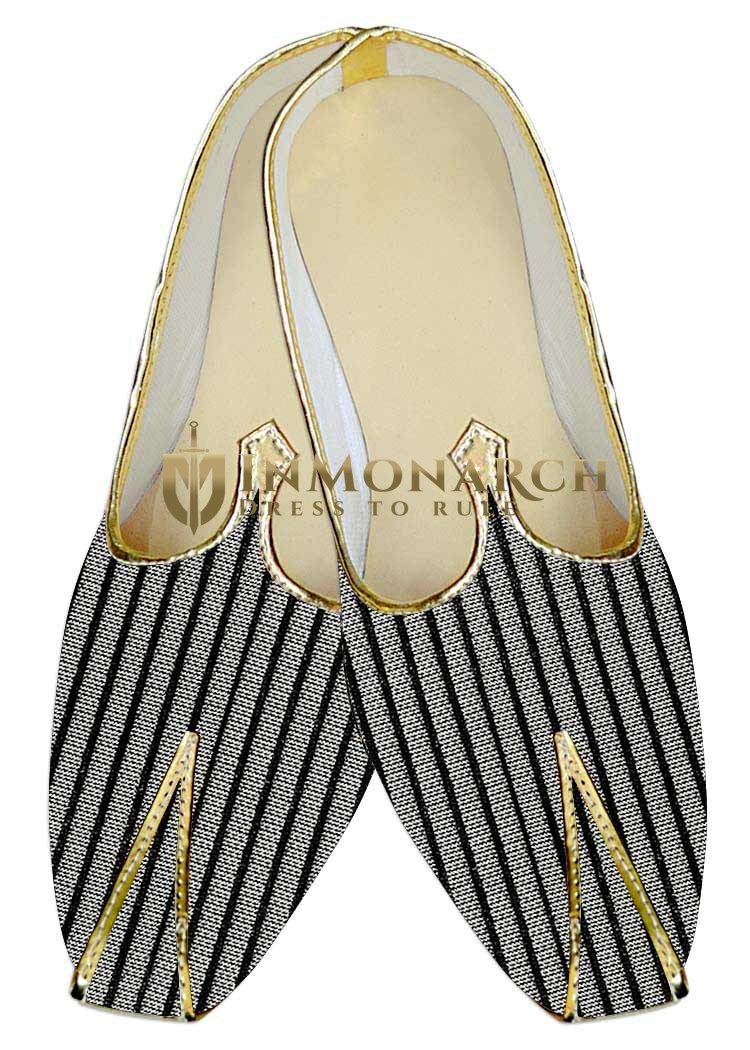Mens Indian Bridal Shoes Silver Wedding Shoes Black Indian Wedding Shoes