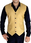 Mens Yellow V Vest Small Checks