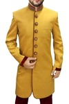 Mens Wedding Sherwani Yellow Indian Sherwani Indowestern Embroidered