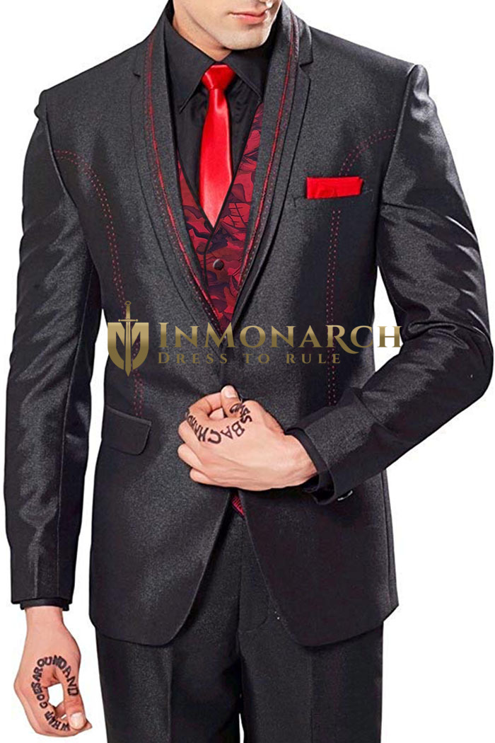 Mens Party Wear 6 Pc Tuxedo Suit PW230