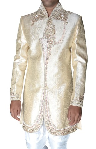 Mens Beige 2 Pc  Indowestern Designer Bollywood