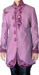 Indian Wedding Clothes Sherwani for Men Plum Indo Western Sherwani Ethnic