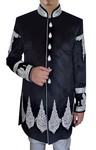 Mens Black Velvet 2 Pc Indo Western Traditional