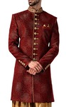 Indian Sherwani for Men Kurta Maroon Indowestern Dresses Sherwani