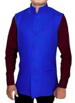 Mens Royal Blue Nehru Jacket Indian Look Festive Vest