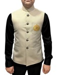 Mens Cream Indian Jacket Modi jacket for men