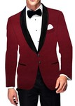 Mens Slim fit Casual Mulberry Velvet Blazer sport jacket coat Two Button