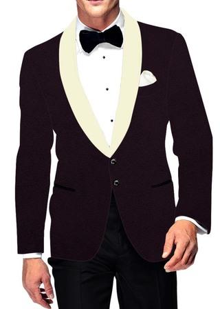Mens Slim fit Casual Purple Wine Velvet Blazer sport jacket coat Shawl Collar