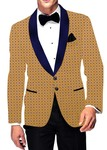 Mens Slim fit Casual Bisque Cutwork Velvet Blazer sport jacket coat Two Button