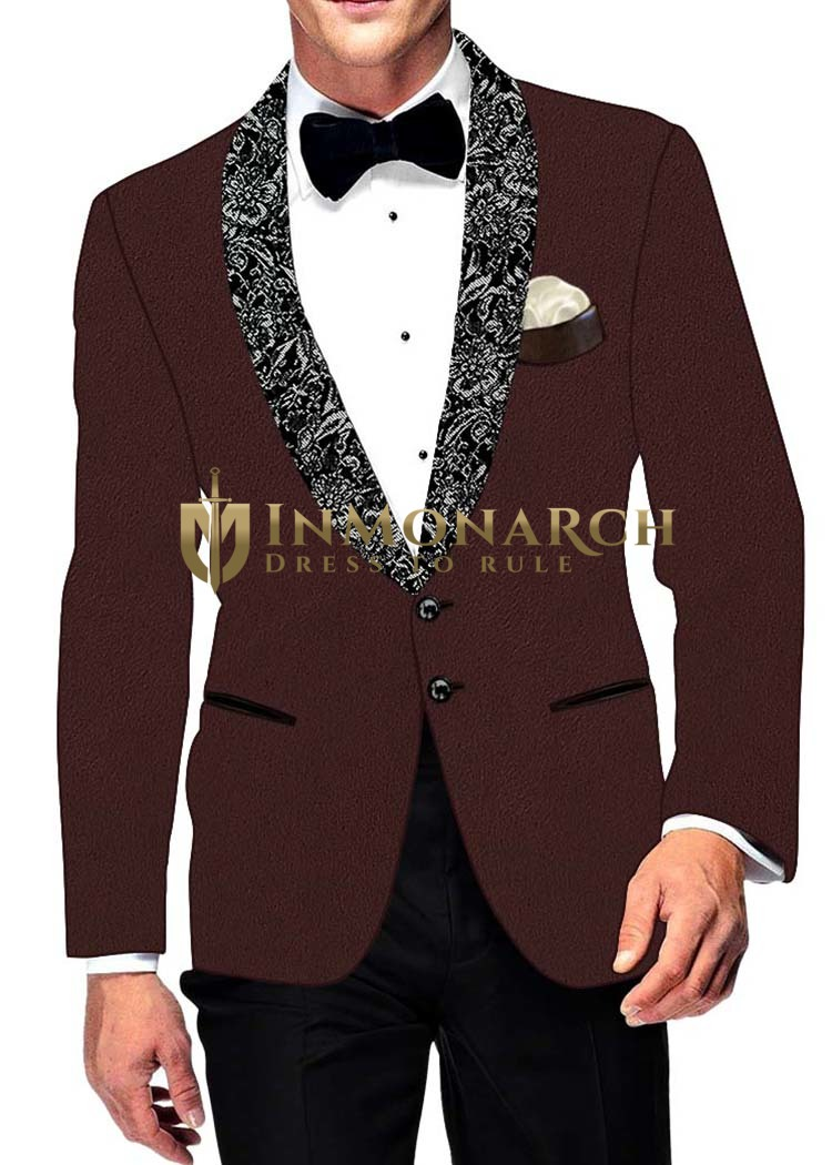 Mens Slim fit Casual Brown Velvet Blazer sport jacket coat Sport Coat Jacket
