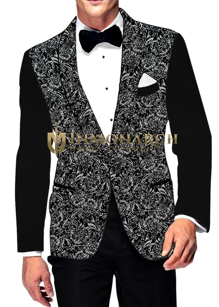 Mens Slim fit Casual Black Polyester Blazer sport jacket coat Designer Velvet Sleeves