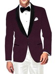 Mens Slim fit Casual Mulberry Velvet Blazer sport jacket coat Shawl Lapel