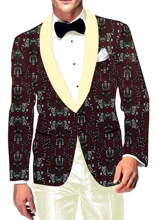 Mens Slim fit Casual Wine Polyester Blazer sport jacket coat Two Button