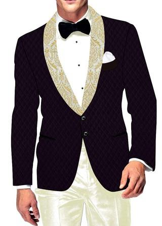 Mens Slim fit Casual Purple Wine Velvet Blazer sport jacket coat Bollywood Style