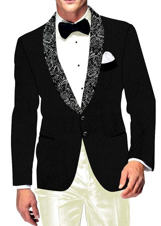 Mens Slim fit Casual Black Velvet Blazer sport jacket coat Formal Two Button