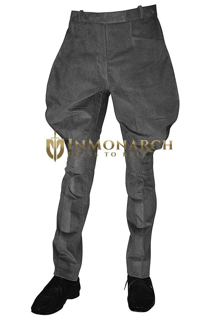Womens Gray Corduroy Baggy riding Breeches