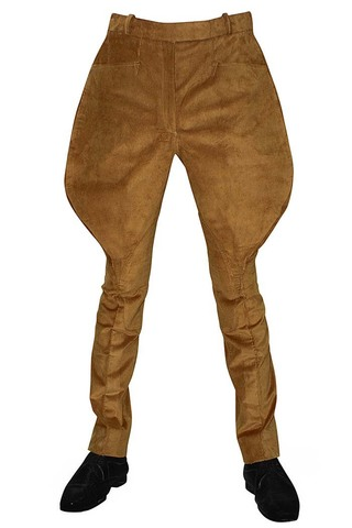 Men | Women brown corduroy flair-hip breeches riding pants