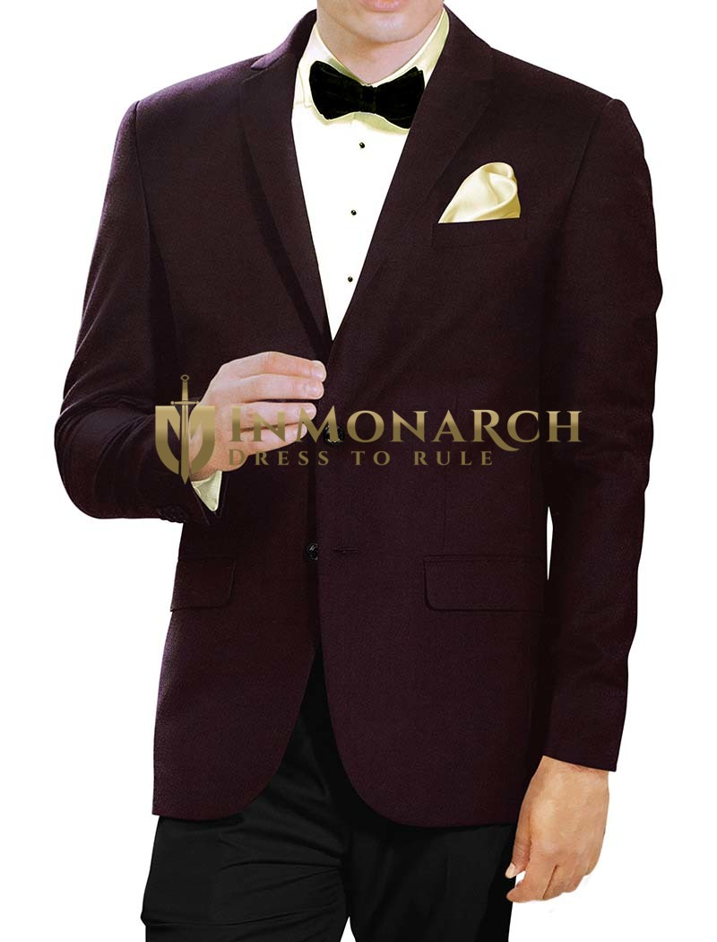Mens Chocolate Color 5 Pc Tuxedo Suit Two Button