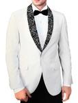 Mens Cream Polyester 4 Pc Tuxedo Suit Shawl Lapel