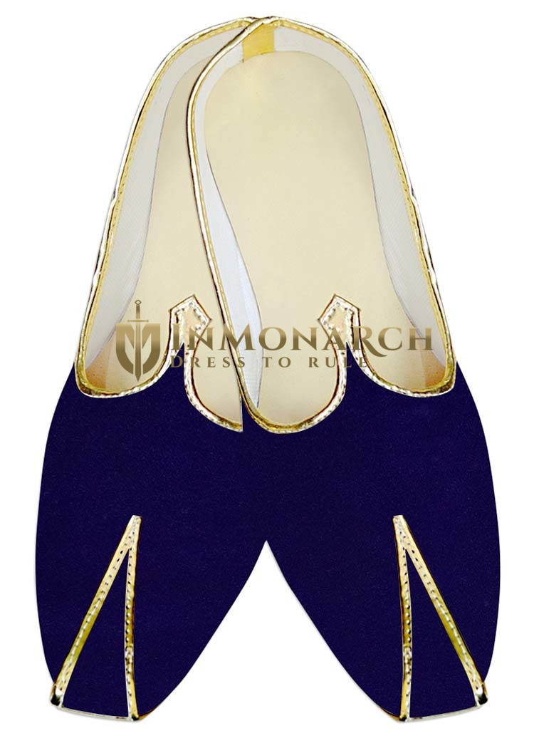 Indian Wedding Shoes For Men Blue Velvet Wedding Shoes Traditional