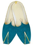 Indian Mens Shoes Teal Velvet Wedding Juti Mojari Sherwani Shoes